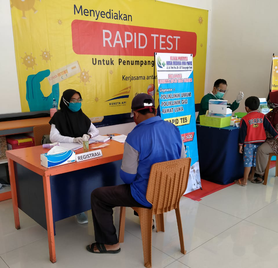 Perluas Bisnis Rapid Test Dengan KAI, Cabang Sidoarjo Kerjasama Dengan Daops 7 Dan 8