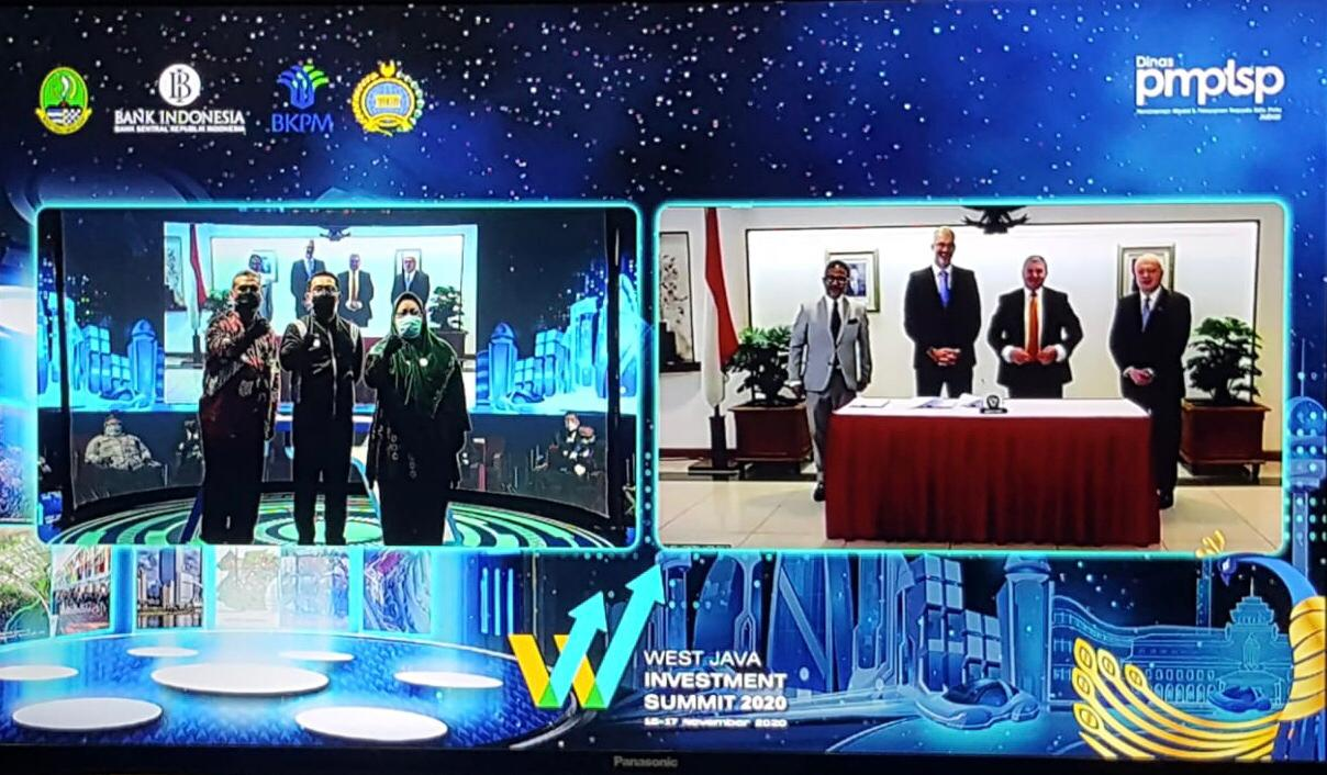 West Java Investment Summit 2020, Rajawali Nusindo Tanda Tangani MoU Distribusi Produk Alkes