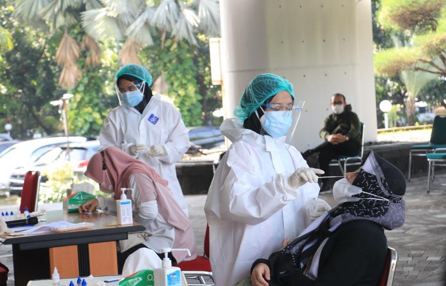 Tekan Penyebaran Serta Pencegahan Covid-19, Rajawali Nusindo Laksanakan Rapidtest Antigen