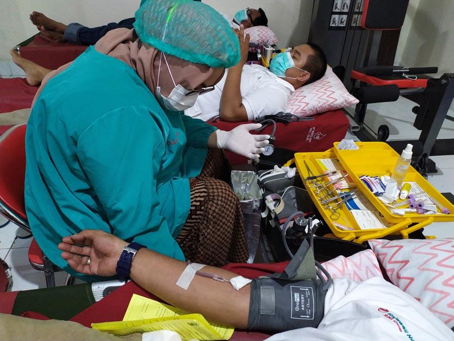 Cabang Makassar Gelar Aksi Kemanusian Donor Darah